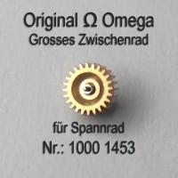 Omega Grosses Zwischenrad für Sperrad Part Nr. Omega 1000-1453 Cal. 1000 1001 1002
