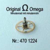 Omega Minutenrad mit Minutenrohr 4,59 mm Part Nr. Omega 470-1224 Cal. 470 471 500 501 505