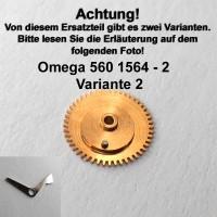 Omega Datumsanzeiger Mitnehmrad montiert Variante 2 Part Nr. Omega 560-1564 Cal. 560 561 562 610