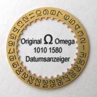 NEUWERTIGER Omega Datumanzeiger goldfarben, (Datumsscheibe - Datumsring) Part Nr. Omega 1010-1580 Cal. 1010 1011 1012 1030 NR.03