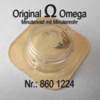 Omega Minutenrad mit Minutenrohr H0, NOSPart Nr. Omega 860-1224 Cal.  860 861 862 863 864 865 866 867