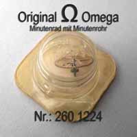 Omega Minutenrad mit Minutenrohr, NOS 5,61mm Part Nr. Omega 260-1224 Cal.  30 30T1 30T2 30T2 PC 260 261 262 265 266 267 268 269
