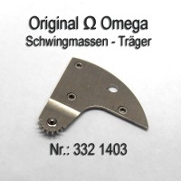 OmegaSchwingmassen- Träger montiert Part Nr. Omega 332-1403 Cal. 332 333 342 343 344 351 352 353 354 355