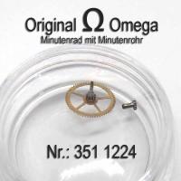 Omega Minutenrad mit Minutenrohr Part Nr. Omega 351-1224 Cal. 351 352 354